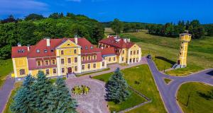yellow manor house Poland