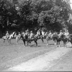 Prussian cavalry at the Keyserling Palace